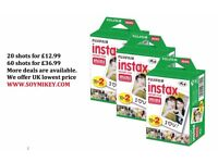 Fuji Instax Mini Film for Fujifilm Mini 8 7s & Mini 90, 50 Cameras Cheapest