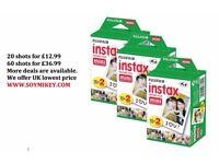 Fuji Instax Mini Film for Fujifilm Mini 8 7s & Mini 90, 50 Cameras Cheapest