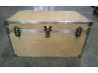 Massive storage chest / trunk - birch ply with aluminium trim