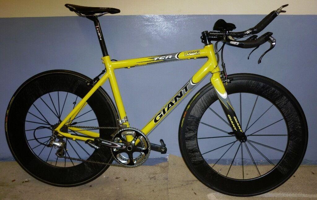 Giant Tcr Time Trial Triathlon Tt Road Bike Planet X Carbon Wheels