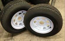 "2x 14"" BRAND NEW SUNRAYSIA RIM WITH NEW TYRES Loganholme Logan Area Preview"