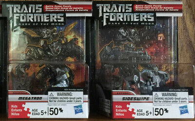 Transformers Dark of the Moon Battle Scene Puzzle and Figure](Transformers Scene)