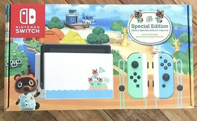 Nintendo Switch Animal Crossing Console New Horizon Edition - FedEx 2 Day Ship