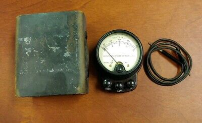 H48 Vintage Weston A.c. Volt Tester Model 528 Bakelite Steam Punk Industrial