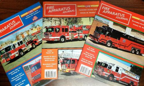 Fire Apparatus Journal Lot of 3 July-Dec. 2018  NEW