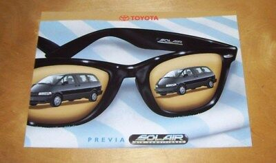 TOYOTA PREVIA SOLAIR AIR CONDITIONED SALES LEAFLET Ref 00000-90834-BR