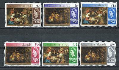 CAYMAN ISLANDS , 1968 , CHRISTMAS , SET OF 6 PERF, MNH ,