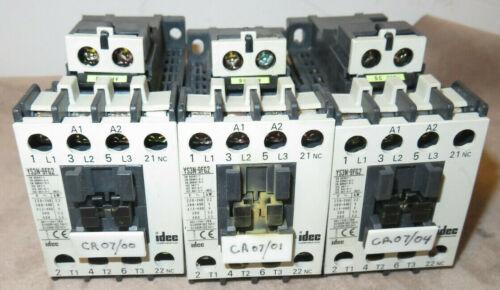 IDEC YS3N-9FG2 INDUSTRIAL 4 POLE CONTACTORS DC 24V Coil, 20A Contacts (lot of 3)