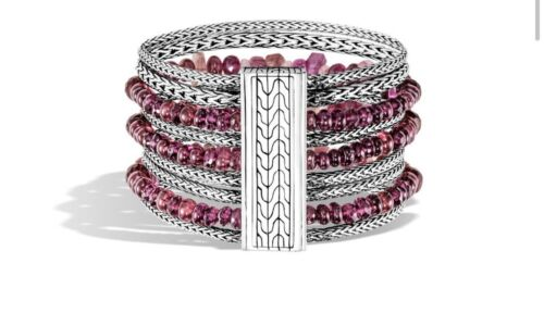 2,795 NWT Classic Chain Multi Row Bracelet With Mixed Pink Tourmaline - $749.99