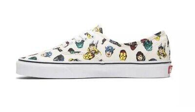 Vans X Marvel Comics Superhero Avenger mens white tennis shoes Size 8.5