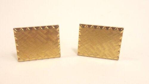 Square Goldtone Stamp Etched Cufflinks