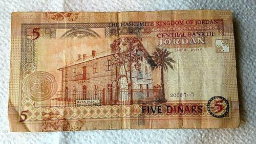 Banknote Of Jordan 2006 5 Dinars