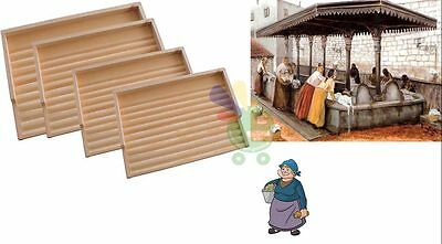 Asse piano in legno per lavare i panni a mano lavatoio cm 55 tavoletta da bucato