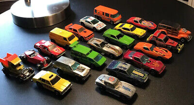 Lot of 20 Vintage 60s - 70s- 80s Hot Wheels Cars And Trucks