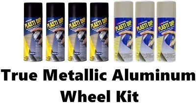 Performix Plasti Dip Wheel Kit 4 Matte Black True Metallic Aluminum 3 Cans