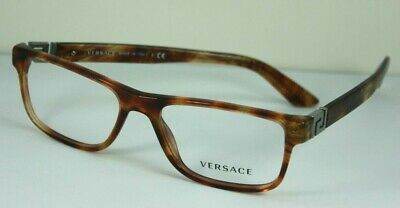 NEW AUTHENTIC VERSACE VE 3211 5143 Tortoise Brown Optical RX Eyeglasses 53 mm