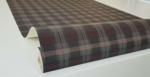 Checkered Burgundy Vinyl Wallpaper by Willow Lake