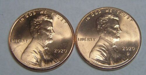 (LOOK)   2020  P&D   LINCOLN .CENT SHIELD PENNY  From Bank Rolls  W/MINT LUSTER