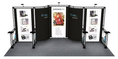 Trade Show Booth Display Custom 10 X 20 Pop Out Banner Stand Inline Crosswire