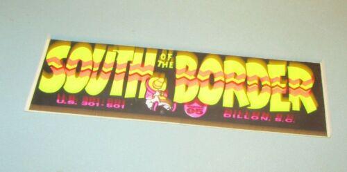 Vintage 1970s South of the Border Motor Inn Dillon South Carolina Unused Sticker