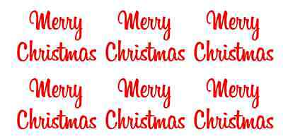 8x Merry Christmas Vinyl Decal Sticker Christmas Glass Party Bauble Milk Wine
