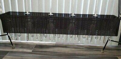 Lamp Way Bohemian Crystal Black Organza Horizontal Modern Hanging Chandelier (Black Bohemian Crystal Chandelier)