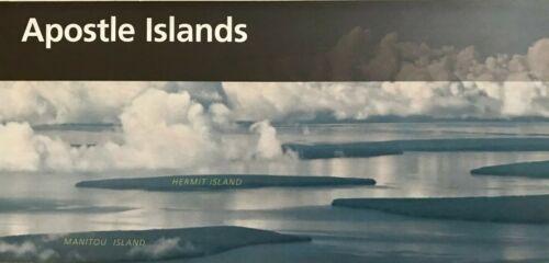 New APOSTLE ISLANDS LAKESHORE - WI   NATIONAL PARK SERVICE UNIGRID BROCHURE  Map