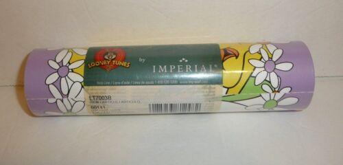 Tweety Bird Looney Tunes Wall Border 5 Yards vtg 1999 by Imperial Purple Flower