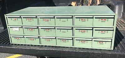 Vintage Metal Storage Bins Cabinet 18 Drawers