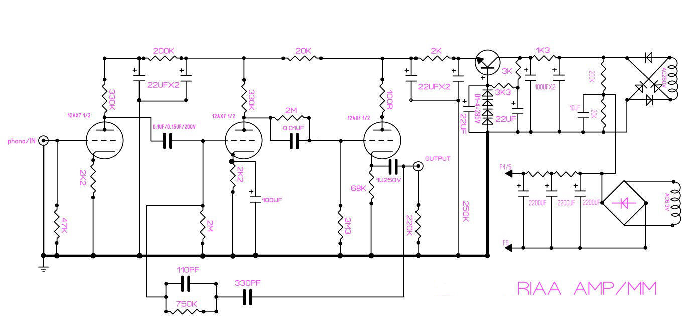Phono Preamp Schematic 12ax7 - Wiring Diagram Filter