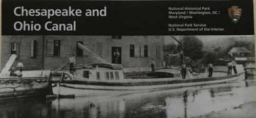 CHESAPEAKE and OHIO CANAL  C & O  NATIONAL PARK SERVICE UNIGRID BROCHURE Map  #C