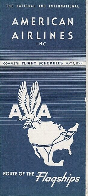 American Airlines timetable 1944/05/01