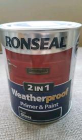Black wood paint - Ronseal 2 in 1 primer & paint 750ml