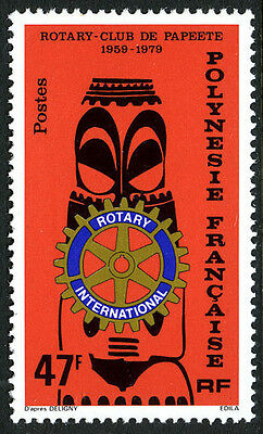 French Polynesia 326, MNH. Rotary Intl. 75th anniv. Statue holding Emblem, 1979