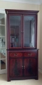 Dark wood display cabinet
