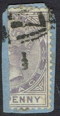 DOMINICA 1882 QV BISECT 1/2 ON 1D SG TYPE2 USED ON PIECE