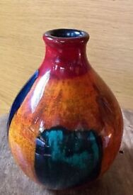 Poole Pottery Gemstone Living Glaze Small Bud Vase 5.2 Inches X 4 Inches