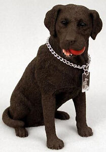 LABRADOR RETRIEVER LAB (CHOCOLATE) MY DOG Figurine Statue Pet Lovers Gift  Resin