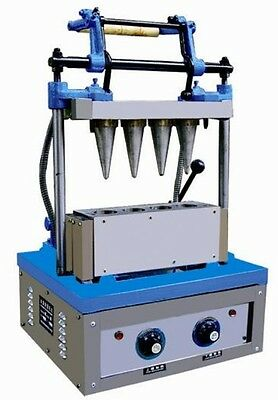 New Ice Cream Cone Waffle Baker Machine Maker With 4 Cone Molds Shiped By Sea