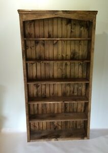 handmade solid wood bookcases