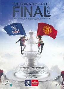 * 2016 FA CUP FINAL - MAN UTD v CRYSTAL PALACE - OFFICIAL PROGRAMME *
