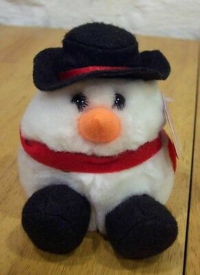 "Puffkins FLURRY THE SNOWMAN 4"" Plush Stuffed Animal NEW"