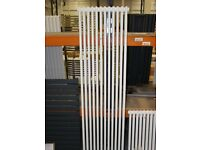 BRAND NEW TRADITIONAL VERTICAL 12 X 2 COLUMN CAST IRON STYLE RADIATOR IN WHITE 1800 X 540MM £170