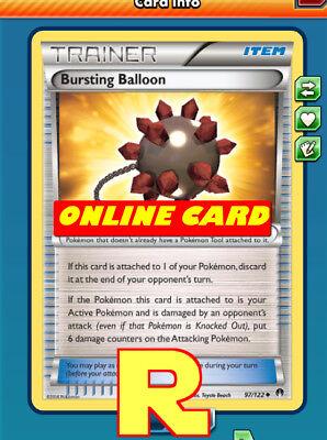 2x Bursting Balloon - for Pokemon TCG Online ( ptcgo in Game Card)](Balloons Online)