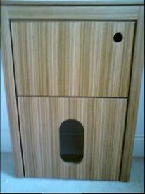 Bathstore Zebrano WC Cabinet, Brand New in Box