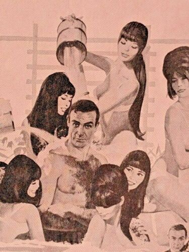 Fusco45 James Bond 007 Sheet Music Only Live Twice Connery Bathtub Cool Graphics