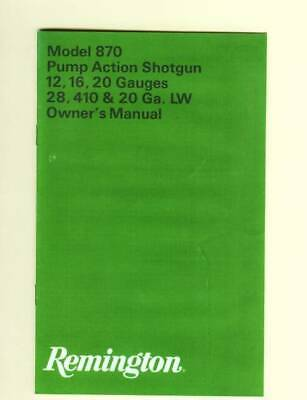 Remington Model 550-1 Factory Owners Instruction Reproduction