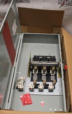 General Electric 600 Amp 3 Pole Fusible Th4326c 240 Volt N1