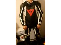 1 piece full leather motorcycle suit
