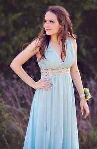 Light Blue Prom Dress- Size 2/Small